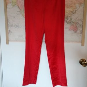 Rich Red Silky Pants